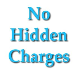 No Hidden Charges or fees