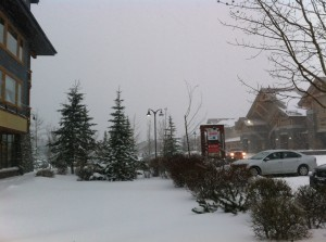Canmore Crossing in the snow