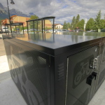 Canmore bike lockers